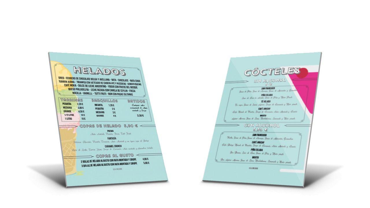 diseño de cartas para heladerías