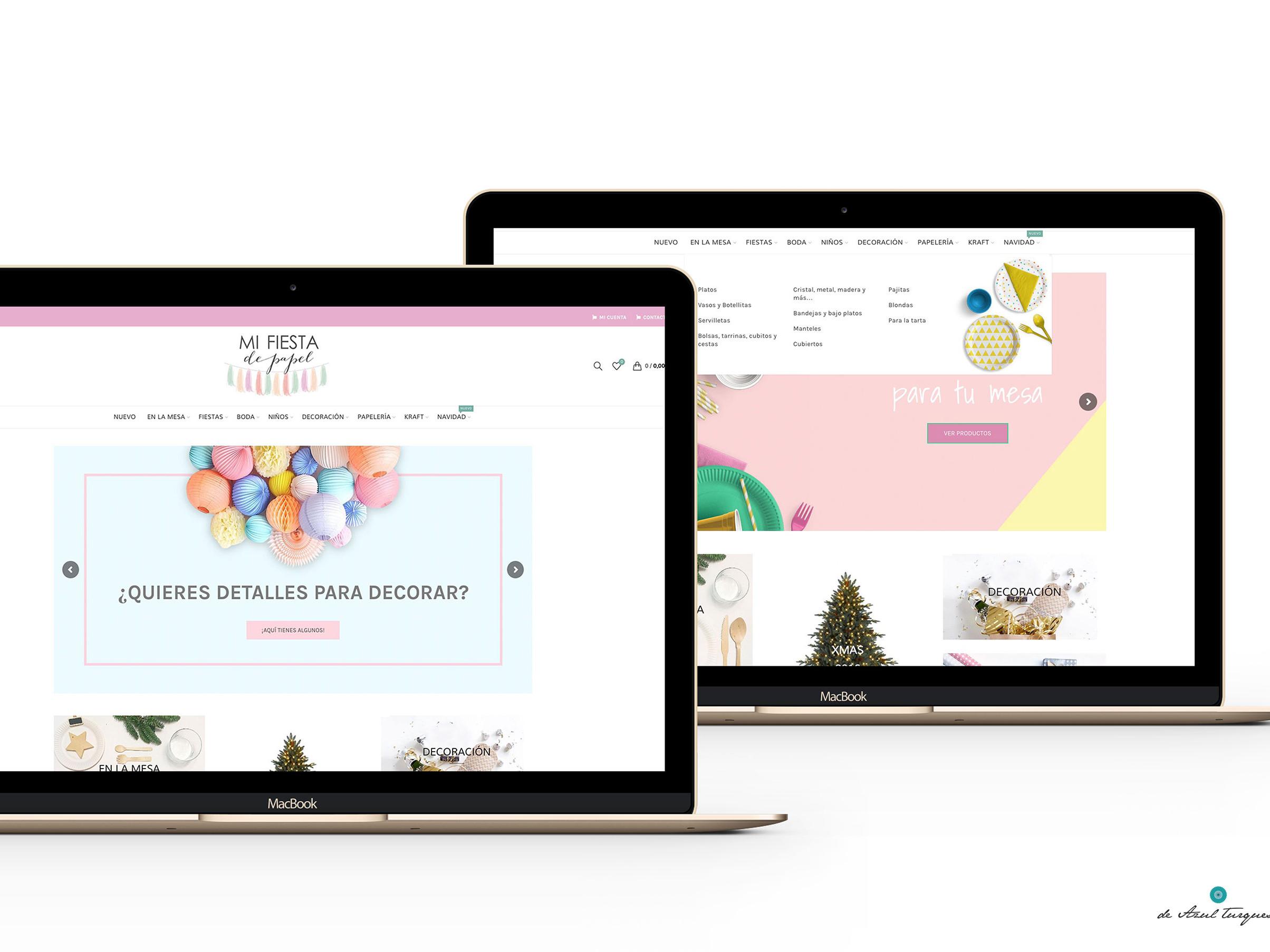 diseño web de azull turquesa