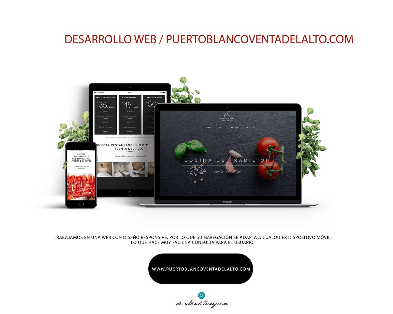 diseño de páginas web de azul turquesa