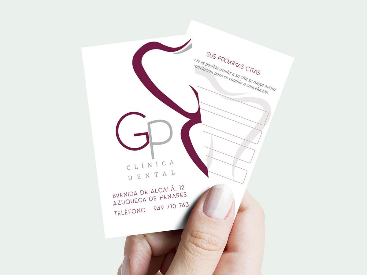 diseño de tarejtas de visita dentistas