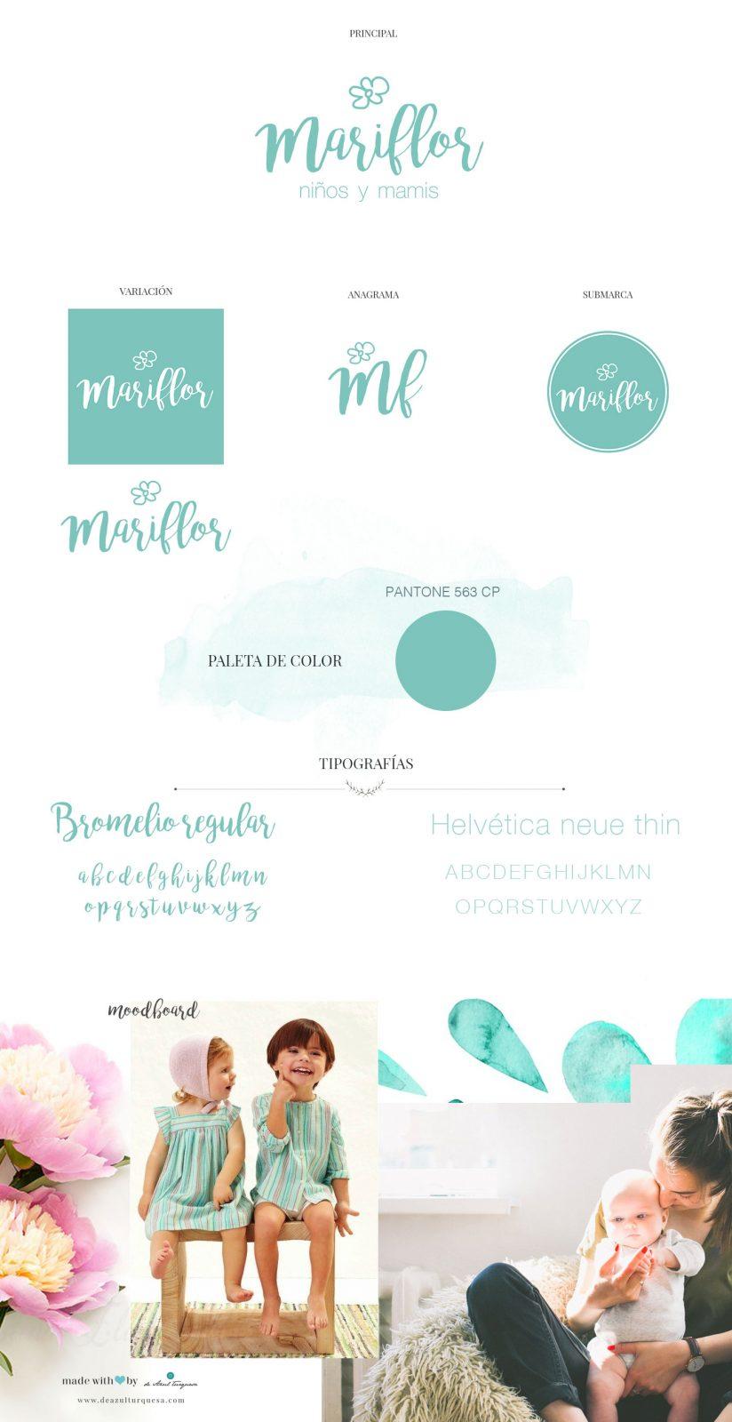 mariflor diseño de logos