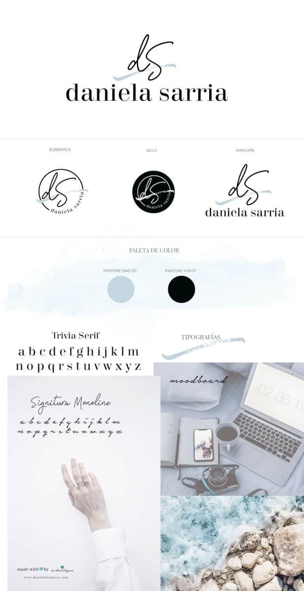 diseño de logotipo de azul turquesa