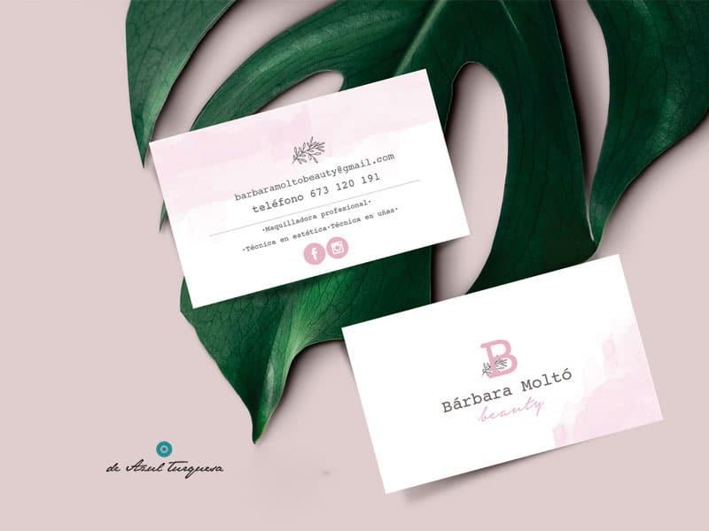 tarjetas de visita beauty
