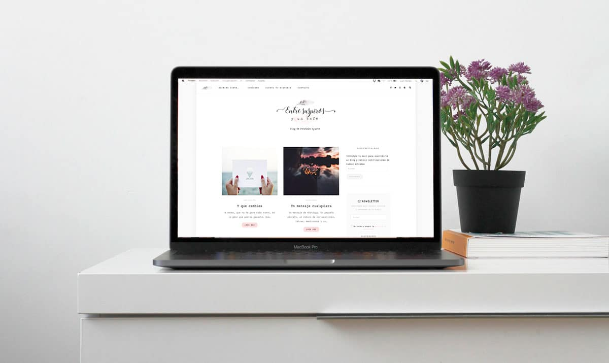 diseño web de azul turquesa