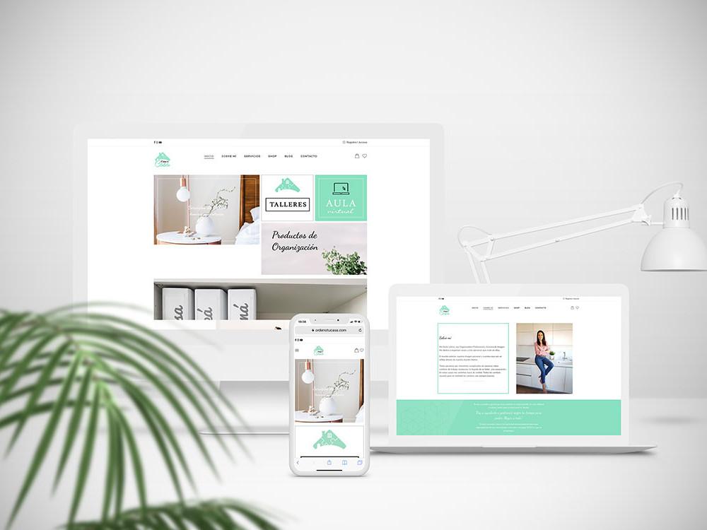 diseño web de ordeno tu casa