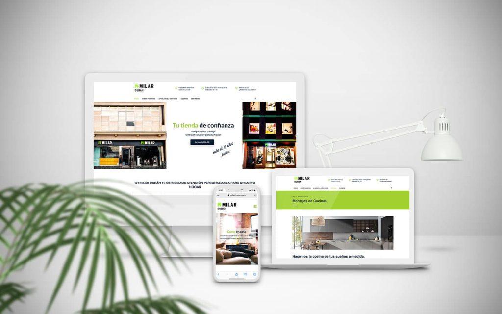diseño de web para Milar