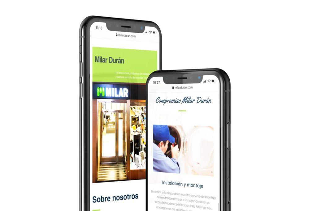 Diseño web Milar Durán Peñarroya
